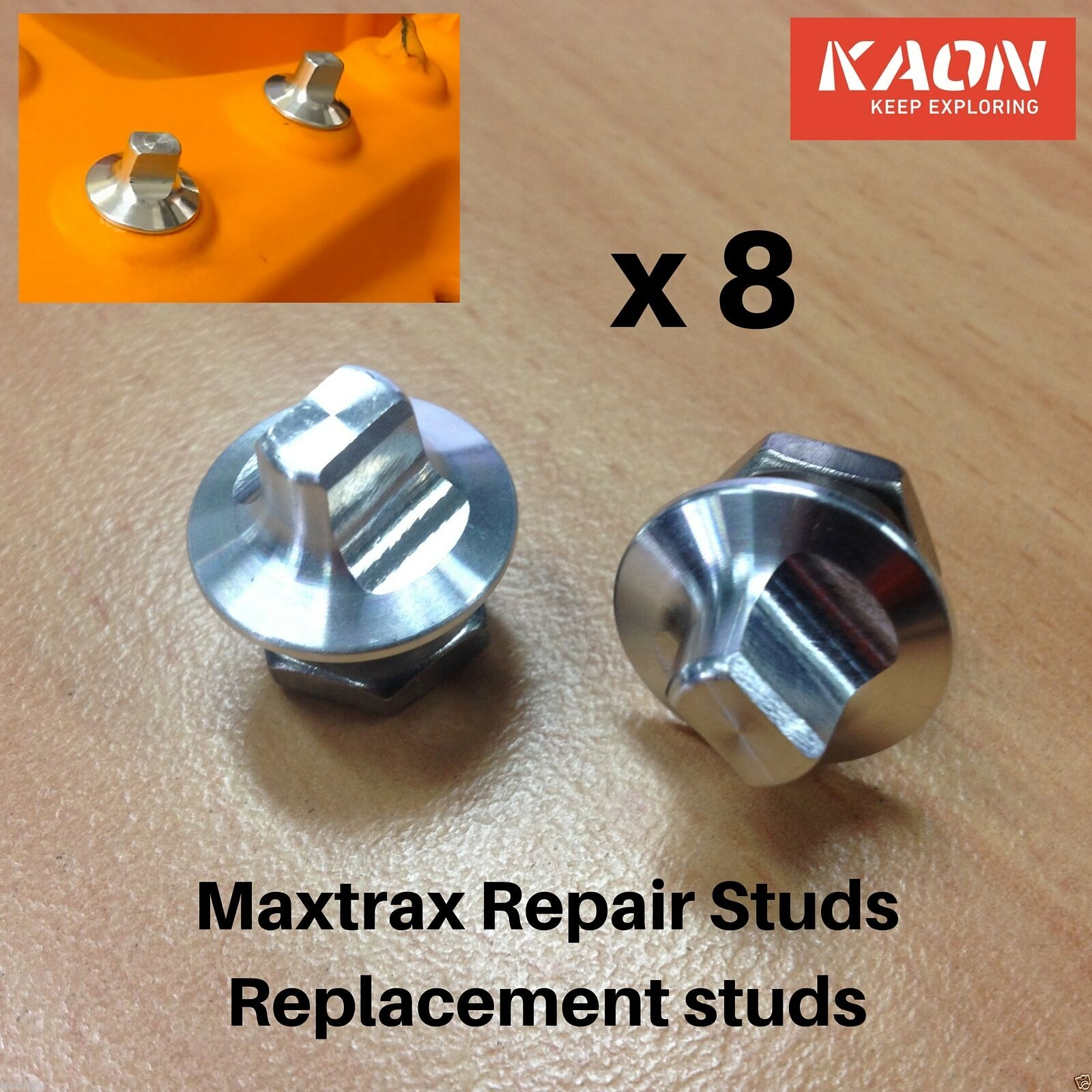 Maxtrax Replacement Teeth Repair Kit - 8 replacement studs; Fix your Maxtrax