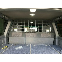 Light Cargo Pet Barrier to suit TOYOTA Landcruiser LC100/105 Series Handles INWARDS