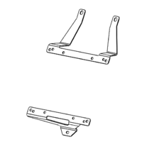 Transmission Oil Cooler Brackets to suit Toyota Prado 150 1GD 2.8L, 2009 - Onwards