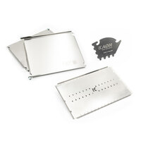Stainless Steel Side Tables to suit Weber Baby Q + Convection Tray + 3 digit Model Cleaning Tool